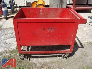4 Wheeled Steel  Industrial Cart