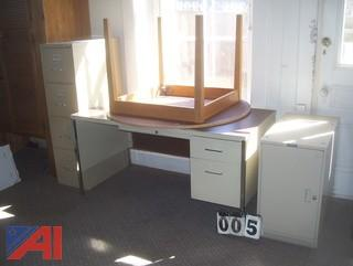 Desk, Swivel Chair and More