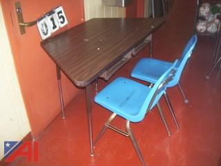Trapezoid Tables and Chairs
