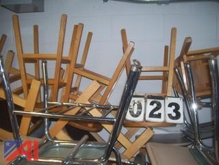 Various Wooden Stools and Chairs