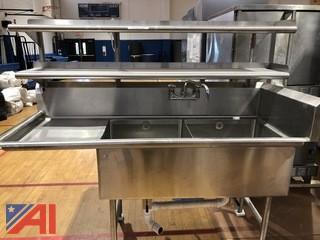 Stainless Steel Dual Sink Prep Table