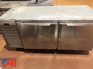 Traulsen Model TUD72HT Two Door Under Counter Stainless Steel Refrigerator