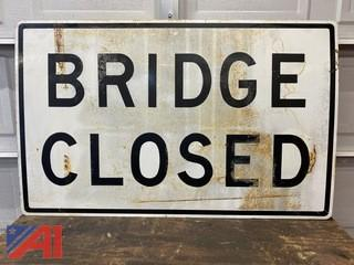 Bridge Closed Road Sign