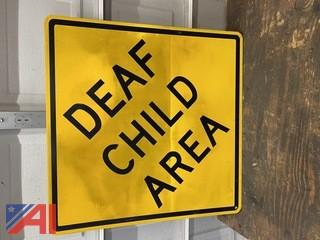 Deaf Child Road Sign
