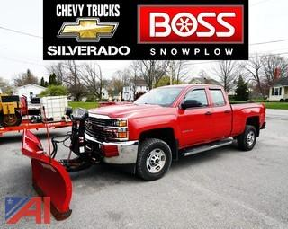 2015 Chevy Silverado 2500HD Pickup Truck with V-Plow