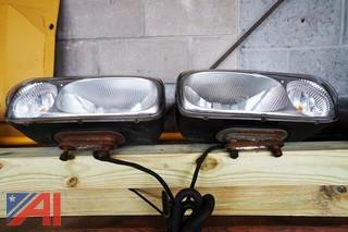Pair of Plow Frame Headlights