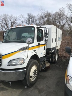 2010 Freightliner M2106 Schwarze M6000SE Mechanical Broom Sweeper