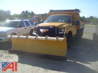 2004 Ford F450 Super Duty Dump Truck with Plow