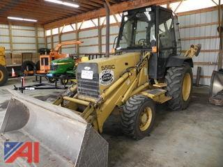 1989 Ford 555C Backhoe with Extend a Hoe