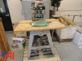 Laser Track Radial Arm Saw and Craftsman Chop Saw