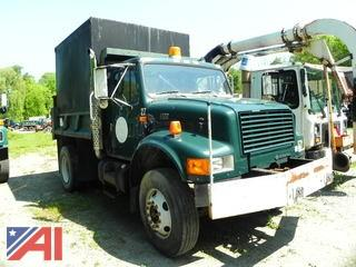 2002 International 4700 Dump/Chip Box Truck