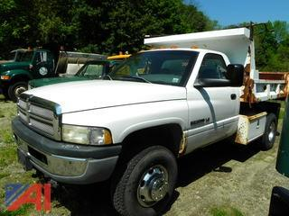 2001 Dodge Ram 3500 Pickup Truck with Dump Body & Plow