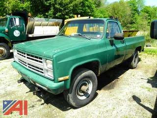 1985 Chevy D30 Pickup Truck with Plow