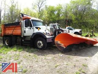 2008 International 7600 Dump Truck with Plow