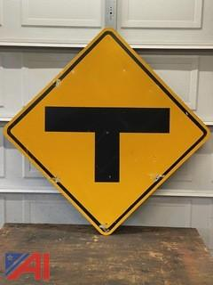 T-Intersection Road Sign