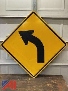 Left Curve Road Sign