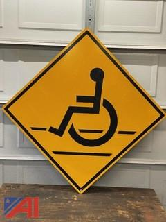 Handicap Wheelchair Road Sign