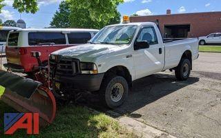 2003 Ford F350 XL Super Duty Pickup Truck & Plow