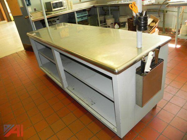 Auctions International Auction Herkimer County Purchasing Day - 7 foot stainless steel table