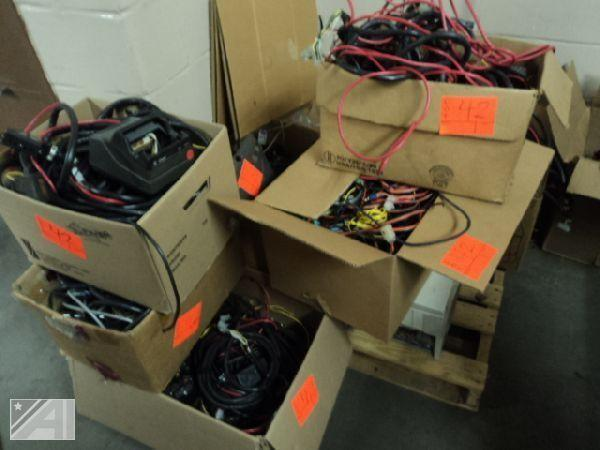 Auctions International - Auction: City of Auburn Fire Dept. ITEM: Cables,  cords, wire, harnesses and hardware, (2) PC towersAuctions International