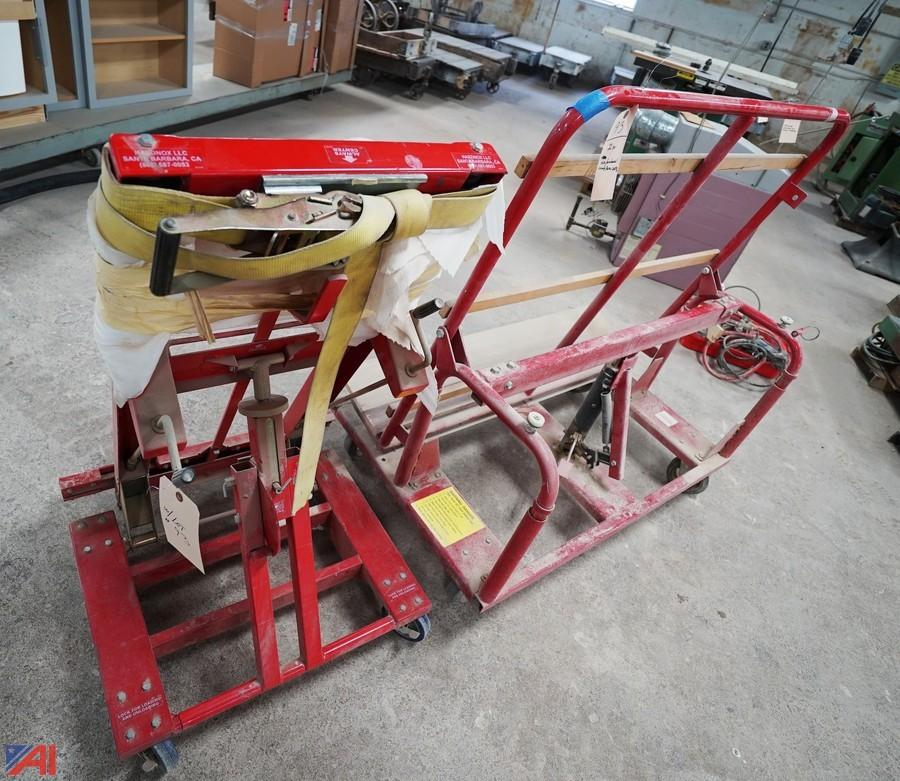 Auctions International - Auction Day 2 Woodworking Industrial Auction #8084 *8% BP* ITEM 2 Pc Door Jak u0026 Hafele Door Cart u0026 Flip Top Cart & Auctions International - Auction: Day 2 Woodworking Industrial ...