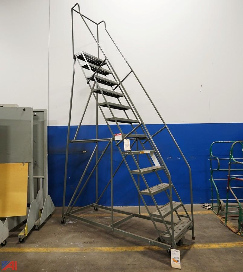 EGA Industrial Rolling Ladder/Mobile Staircase/12 Stair. U2039u203a
