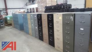 Large Lot of Assorted Filing Cabinets