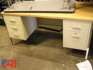 Beige Wood Top desk