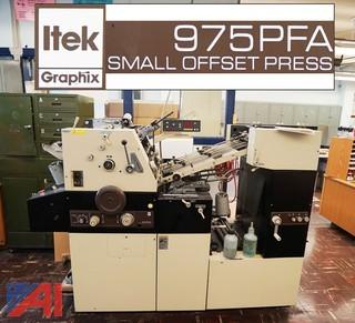 Itek Graphix 975PFA Perfector Small Offset Press
