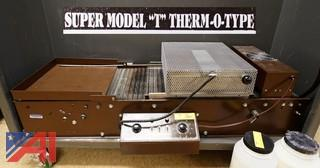 "Handfed Super Model ""T"" Therm-O-Type Thermography Machine"