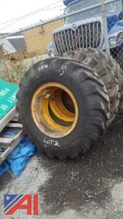 (3) Goodyear Tires on Rims