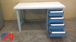 4 Drawer Rousseau Work Table