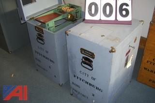 Antique wood ballot boxes