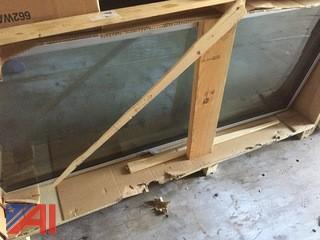 (4) Cooler Doors in Crate