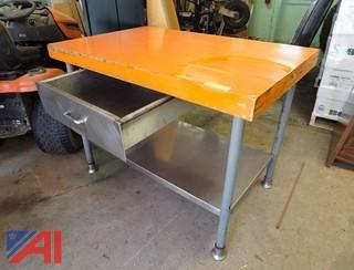 Ruslander S/S Single Drawer Utility Table