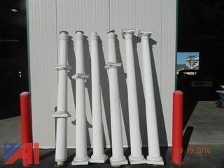 (6) 8' White Columns
