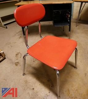(160Pc) Assorted Color 4-Legged Hard Plastic Classroom/Lunchroom Chairs