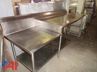 Stainless Steel Table with Equipment Stand