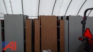 (12)  Virco 12' Folding Cafe Tables