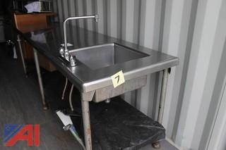 Stainless Steel Work Table w/ Sink