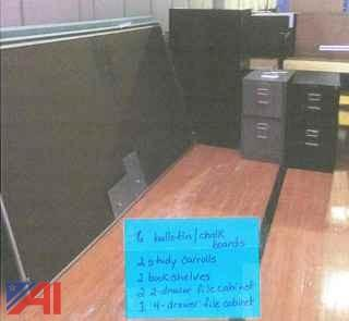 Chalk Boards, File Cabinets and More