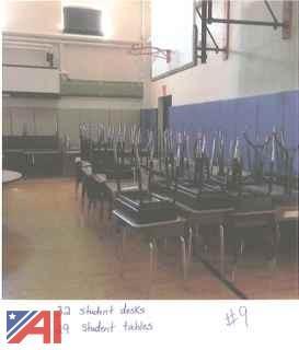 Large Lot of Student Desks