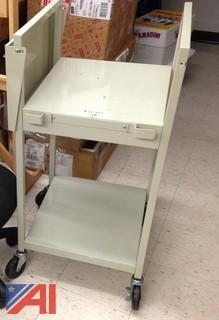 Rolling Gray Cart & Student Desk