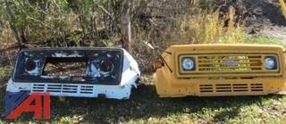 (2) Fiberglass Truck Bumpers