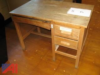 Wooden Teacher Desk