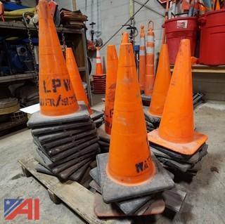 (39) Standard Traffic Safety Cones On Pallet