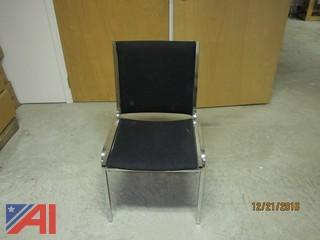(50) Court Black Fabric Stacking Banquet Chairs