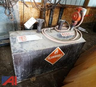 Combination Diesel & Gasoline Fuel Tank With Gasboy Pump