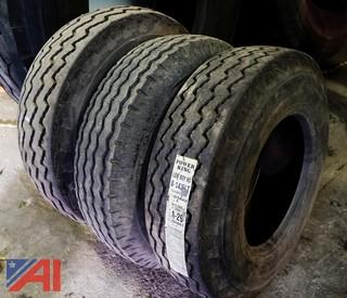 (3) New & Used Power King 8-14.5Lt Tires