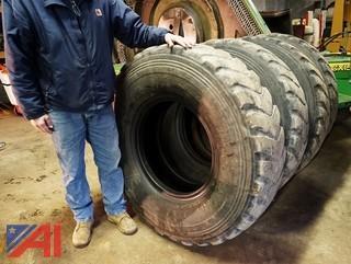 (4) Bridgestone 14.00R24 TG Radial Grader Tires